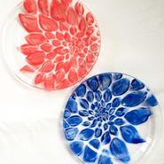 Pair Dahlia (紅&藍)