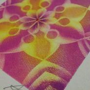 薔薇のエネルギーがたくさん入ったローズモチーフの輝くマンダラアート