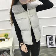 ファー付 ダウン ベスト ジャケット アウター ジャンバー 重ね着 大人カジュアル 暖か 防寒 羽織