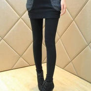 フェイクツーピース風レギンス ショートスカート 韓国ファッション