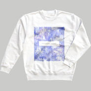 「巡る」スウェット / 青藤 (white)