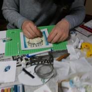 パステル和(NAGOMI)アートワークショップ、2時間(2作品)