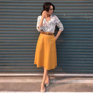 Leather Long SK YELLOW