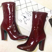 Enamel Middle Boots