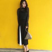 Parl Shiny Blouse BLACK