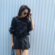Fringe Blouse BLACK