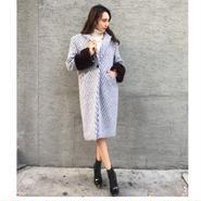 Mink Wool Coat ICEBLUE