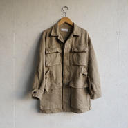 PHEENY  Linen rayon shiny fatigue jacket