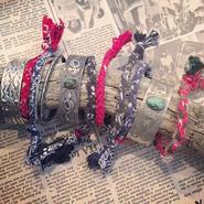 vintage bandanna blacelet