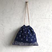 APPRECIATIVE Vintage fabric purse bag bandanna F
