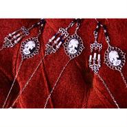 Phantom Jewelry/ファントムジュエリー 骸骨婦人カメオと燭台のメガネチェーン