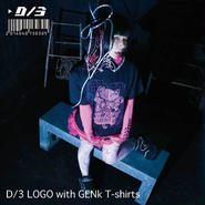 D/3/ディースリー  D/3 ロゴ ウィズ ゲンキ Tシャツ Ver.1.5 黒色×蛍光ピンク×紫