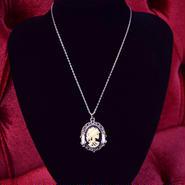 Phantom Jewelry/ファントムジュエリー 骸骨婦人カメオと蝋燭のネックレス(SV×GD)