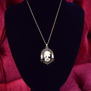 Phantom Jewelry/ファントムジュエリー 骸骨婦人カメオと蝋燭のネックレス(GD×GD)