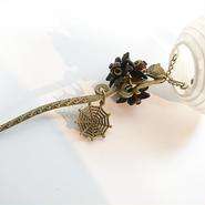 Phantom Jewelry/ファントムジュエリー 狐と提灯の簪(目玉:紫)