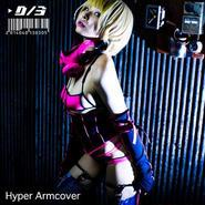 D/3/ディースリー ハイパーアームカバー 黒×蛍光ピンク Hyper Armcover