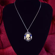 Phantom Jewelry/ファントムジュエリー 骸骨婦人カメオと蝋燭のネックレス(SV×BL)