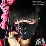 D/3/ディースリー D/3 CYBER MASK (ディースリー サイバーマスク) 黒×蛍光ピンク d3