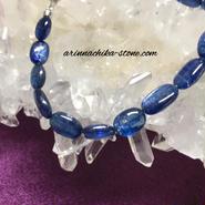 ロイヤルブルーカイヤナイトブレスレット sv925
