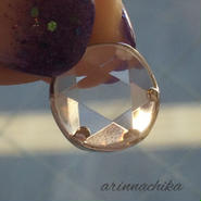 六芒星水晶ペンダント11ミリsv925