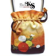 2WAY   Shoulder Bag KINCHAKU 【Misty moon 】巾着ショルダー【おぼろ月】