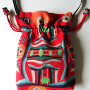 2WAY Shoulder Bag KINCHAKU【Red Face】巾着ショルダーバッグ【赤い顔】