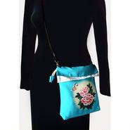 2WAY Shoulder Bag KINCHAKU【Air Turquoiseblue】巾着ショルダーバッグ【エアターコイズブルー】