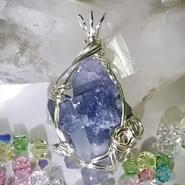 青水晶(インディゴライト入り) ペンダントトップ