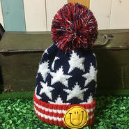 【セレクト加工】アメリカンスマイルボンボンキッズニット帽②