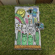 コウノトリ刺繍手帳(B6サイズ)