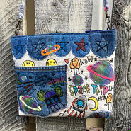 宇宙刺繍ショルダー