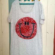 バンダナスマイルTシャツ(レッド)