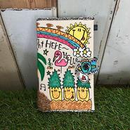 コウノトリ付ハワイアン刺繍手帳(B6サイズ)