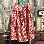 ギザギザwaveボーダースカート(レッド)