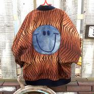 【古着リメイク】デニムスマイルレオパードジャケット