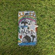 デニムハワイアン刺繍スマホケース(iphone6/6s、7用)