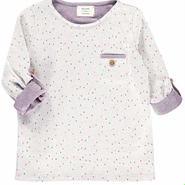 BLUNE ドット柄キッズスウェットTシャツ(15132)