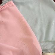 Capezio シルバー・メタリック ラップ・スカート IM347