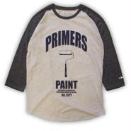 ROLLERS / PRIMERS 3/4 Tee . oatmeal x charcoal
