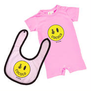 SMILEY BONG BABY SET (Lt-PINK)