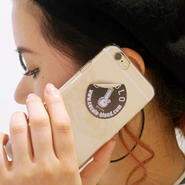 BONG STICKER HARD iPHONE CASE(CLEAR/BLACK STICKER)