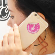 BONG STICKER HARD iPHONE CASE(CLEAR/PINK STICKER)