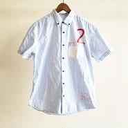 ストライプシャツ/SAX×WHITE