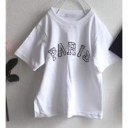 ★ビジューParis Tシャツ★white/Black
