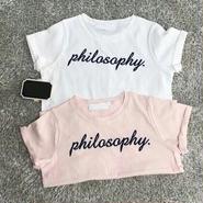 ★philosaphy.Tシャツ★ ピンク/ホワイト