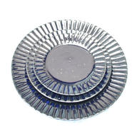 瑠璃釉リム小皿