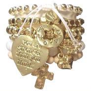 CAT HAMMILL  キャットハミル ブレスレット レディース heart bracelet set 可愛い アクセサリー ハート ゴールド
