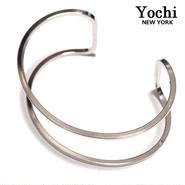 Yochi NEW YORK ヨキ ニューヨーク カフ Wire Open Cuff バングル シルバー 幅広 レディース メンズ シンプル 太 ブランド