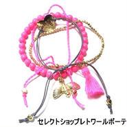 キャットハミル CAT HAMMILL ブレスレット レディース Deluxe Birdy Gold Set of 4 bracelet pink