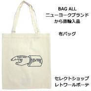 Bag all バッグオール トートバッグ NEW YORK HAND TOTE ニューヨークハンド エコバッグ コットン 布製 たためる 買い物